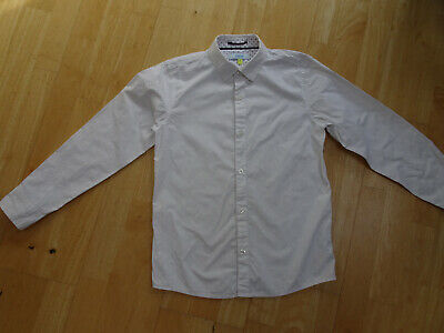 TED BAKER boys white long sleeve shirt AGE 11 YEARS EXCELLENT COND