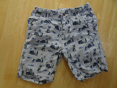 FAT FACE boys blue stripe surf pattern chino cargo shorts AGE 10 - 11 YEARS EXCE