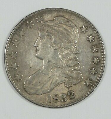 BARGAIN 1832 Capped Bust/Lettered Edge Half Dollar ALMOST UNC Silver 50c