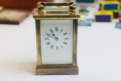 Antique mantel carriage clock with swiss movement working