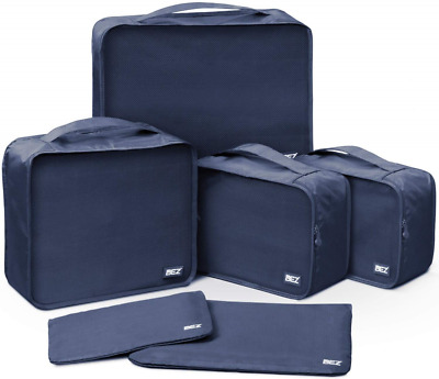 Packing Cubes, BEZ® Set of 6 Travel Luggage Organiser, Clothes Storage Bags for