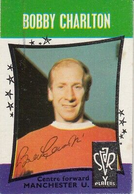 Hand Signed A & Bc 1967 Trading Card : Bobby Charlton - Man United