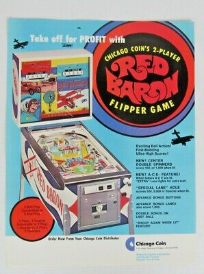 1975 Chicago Coin Red Baron Pinball Tune-up Kit