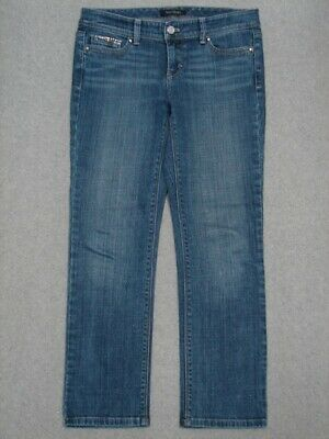 QA07446 **WHITE HOUSE BLACK MARKET** BLANC CROP LEG WOMENS JEANS sz2
