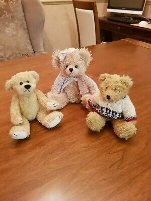Teddy Bear Trio - Cheeky Chums, Bliss Bears & Salco Harlow (excellent condition)