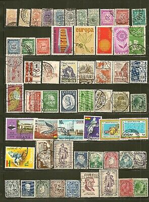 World Wide Collection of 338 Different Old Used Off Paper Stamps 6 scans