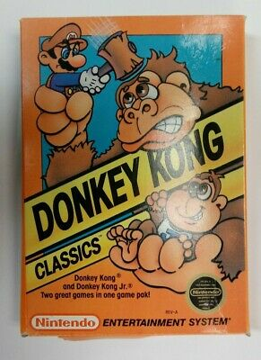 Donkey Kong Classics Nintendo NES 1988 With Original Box
