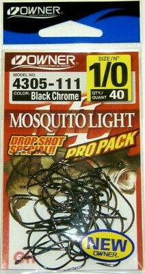 OWNER 5319-131 90 Degree Saltwater Jig Hooks Size 3//0 Pro Pack of 40