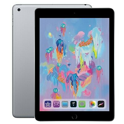 Apple iPad 6th Gen. 128GB, Wi-Fi, 9.7in - Space Gray (New Manufacturer Sealed)