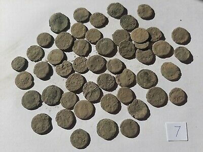 Beautiful  Lot of 50 ancient Roman Bronze Coins for cleaning GOOD QUALITY INTACT