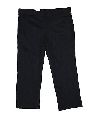 Style & Co. Womens Pants Black Size 18W Plus Straight Cropped Stretch $56 234