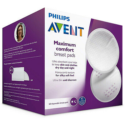 Disposable Breast Pads Philips Avent Nipple Cover Pad Day Night Comfort 60 Pack
