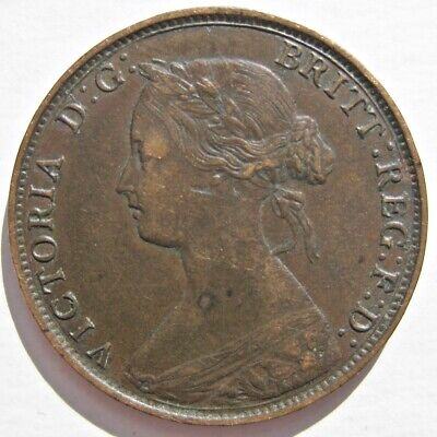 New Brunswick 1864 Queen Victoria Bronze Large Cent Coin (Km# 6)