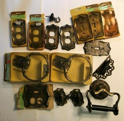 16 pc Lot Amerock Carriage House Switch /Outlet Plates Towel Ring TP Roll Holder