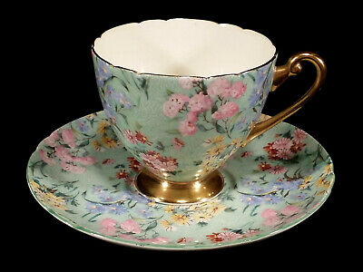 Vintage Shelley England Melody Chintz Cup & Saucer Set English Fine Bone China