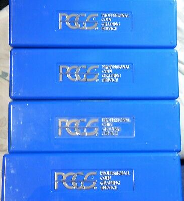 LOT OF 4 USED PCGS SLAB STORAGE BOXES - EACH BOX HOLDS 20 PCGS or NGC SLABS NR