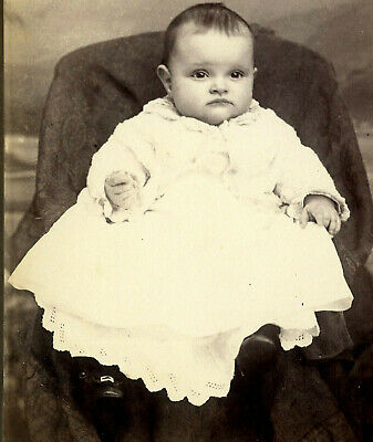 Antique Photo Cabinet Card CUTE LITTLE BABY FASHION by KENNEDY POPLAR BLUFF MO