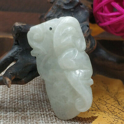 AAAAA Chinese Hand-carved aristocratic wearing Jadeite jade pendant (jade bat)