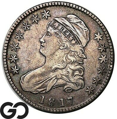 1817 Capped Bust Half Dollar, Scarce Early Silver Half