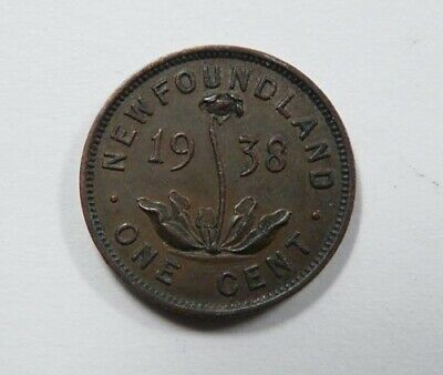 Canada Newfoundland King George VI One Cent 1938 Scarce NICE