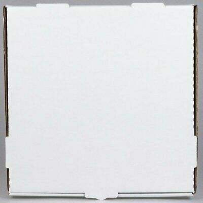Box White Corrugated Plain Pizza / Bakery Versatile Use 14 x 14 x 1 3/4 50-Pack