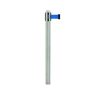 Securit Retractable barrier pole (excl. base) - Grey nylon tape (210cm)