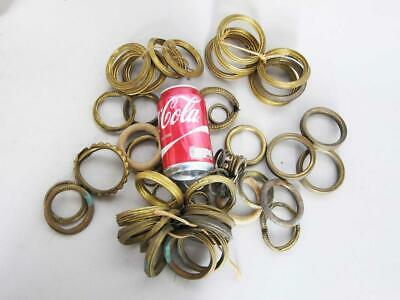 JOB LOT of VICTORIAN ANTIQUE BRASS CURTAIN RINGS SHABBY CHIC pole hook g