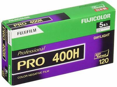 5 Roll Fujifilm FUJICOLOR PRO 400H Daylight Color Negative Film 120 Format