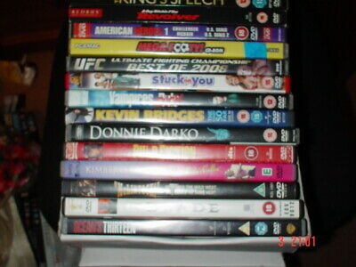 Job Lot Collection of 16 different  Mixed Cert 12-PG DVDs Movies-Cases & Discs.