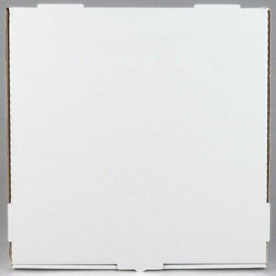 "Pizza / Bakery Box White Corrugated Plain Durable 18"" x 18"" x 1 3/4"" 50/Bundle"