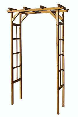 Wooden Garden Arch Plant Support Timber Pergola Arbour Archway Horizontal