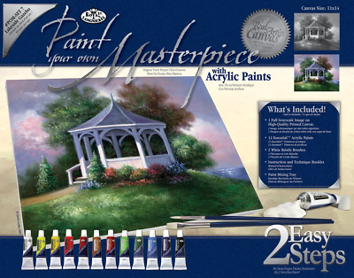 Royal & Langnickel Paint Your Own Masterpiece Lakeside Gazebo Designed Painting