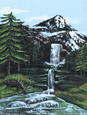 Royal & Langnickel Painting by Numbers Artist Canvas Series Mountain Waterfall S