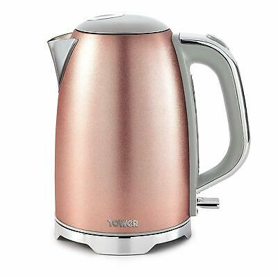 Tower ROSE PINK BLUSH  GLITZ 1.7 Litre 3kW Jug Kettle