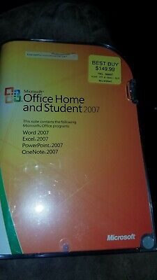 Microsoft MS Office Home and Student Word Excel PowerPoint OneNote 2007