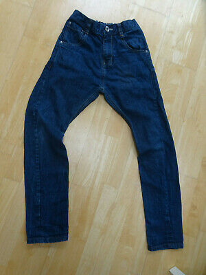 NEXT boys blue denim skinny twisted carrot fit jeans AGE 13 YEARS EXCELLENT