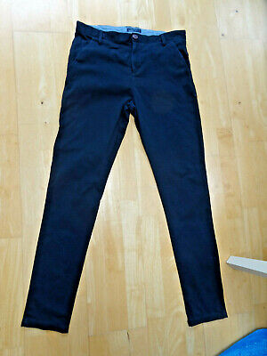 NEXT boys navy blue chino trousers AGE 14 YEARS PLUS EXCELLENT COND