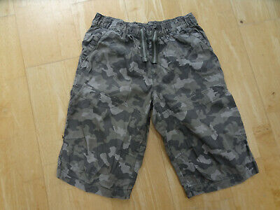 NEXT boys green camouflage long shorts  AGE 15 YEARS EXCELLENT COND