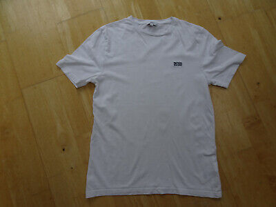 HUGO BOSS boys white designer t shirt top AGE 13 - 14 YEARS AUTHENTIC EXCELLENT