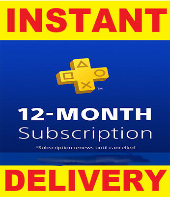 PS Plus 12 MONTHS PSN PlayStation Plus PS4 - SENT FAST - DISCOUNT