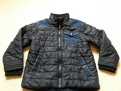 Next Boys Navy Denim Slightly Padded Jacket Age 4-5 Y Smart Casual Trendy