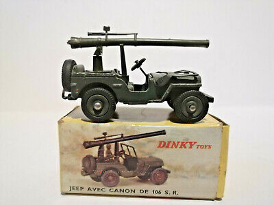 dinky toys Canon 20 mm SR pour jeep dinky militaire ref 829