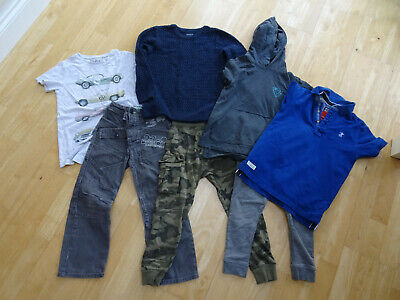 NEXT boys 7 piece clothes bundle tracksuit trousers t shirt jeans AGE 5 - 6 YEAR