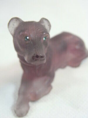 Ancien Statue Animaliere Statuette Chien Pate De Verre Dog Glass Daum ?