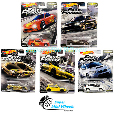 Hot Wheels Premium 2020 Fast & Furious Fast Tuners F Case Set of 5 Cars