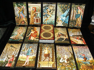 Brand New! Magnificant Golden Botticelli Tarot Card Deck Gold Highlighted Cards