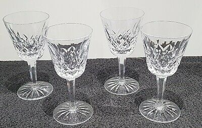 4 Waterford Crystal Tall Wine Glasses Lismore Pattern