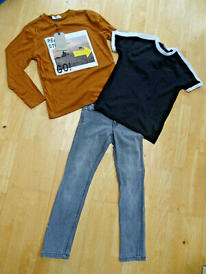 ZARA boys 3 pack jeans top t shirt AGE 7 - 8 / 8 YEARS EXCELLENT COND