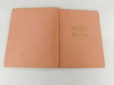 Vtg 1951 Pink Hc Better Homes & Gardens Baby Book Unused