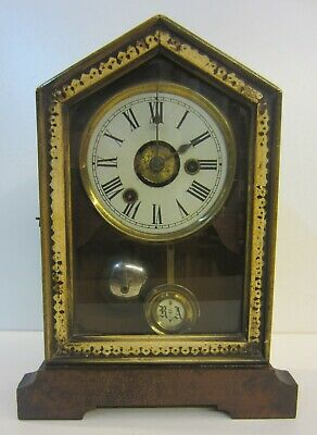 Antique Cottage Clock / Phillip Haas & Sohne / German (see details)